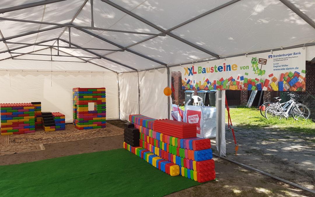12.05.2019 LSP-Schnupperworkshop bei der Einweihung der XXL-Bausteine für kreative Kinder
